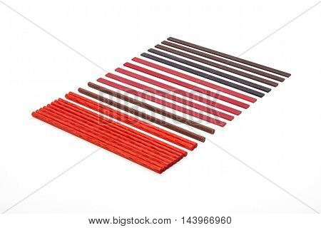 Sharpening stones set in different shapes on white background