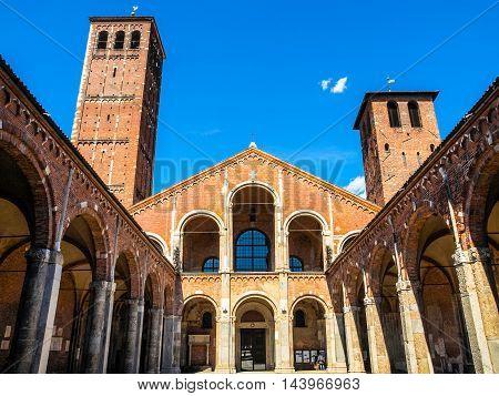Sant Ambrogio Church, Milan Hdr