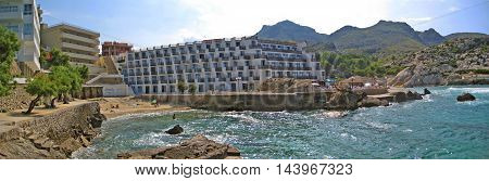 Cala Clara / Barques Panorama View With Hotel, Majorca