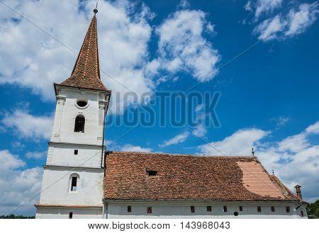 Holy Trinity church in Saxon village Sibiel in Romania