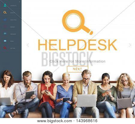 Customer Service Helpdesk Information Descover Concept