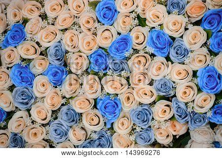 Beautiful flowers background for wedding scene .