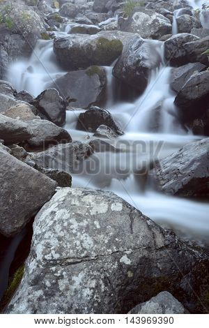 long exposure shot on the river at plateau