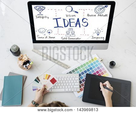 Ideas Vision Icon Illustrations Concept