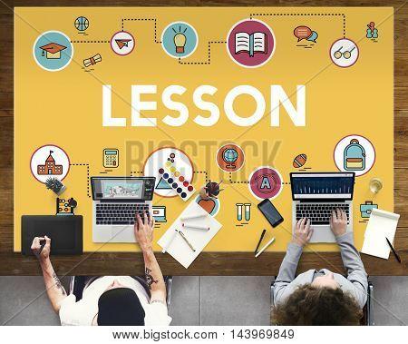 Lesson Creative Designer Concept