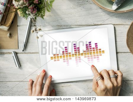 Music Audio Song Wave Graphic Concept