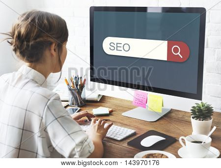 SEO Search Engine Browser Find Looking Concept