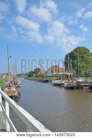 Harbor of Carolinensiel at North Sea in East Frisia,Lower saxony,Germany