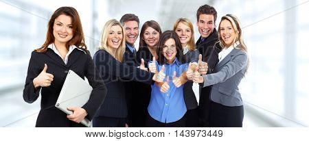 Group of happy business people.