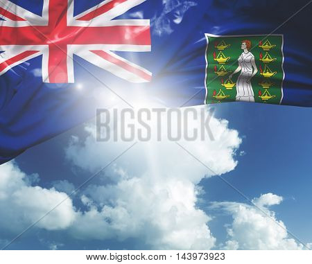 British Virgin Islands flag on a beautiful day