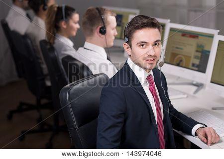 Salesman At Work
