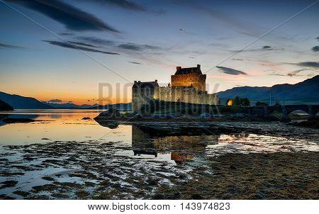 Sundown At Eilean Donan Castle