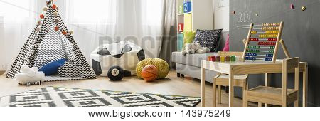 Room Of A Child With Great Imagination