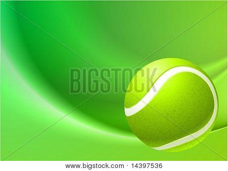 Tennis Ball on Abstract Internet Background Original Illustration