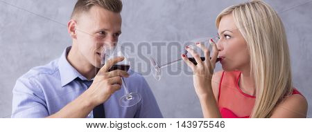 Intimate Encounter With A Glass Of Wine