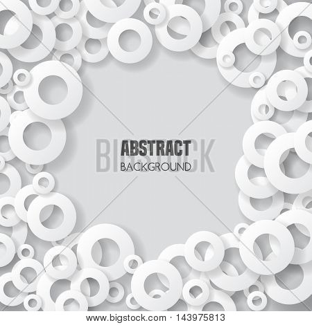Abstract background with geometric shapes. Vector illustration