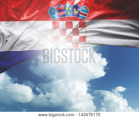 Croatia flag on a beautiful day