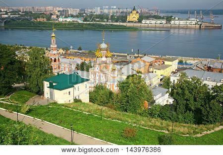Summer view of Stroganov church Nizhny Novgorod Russia