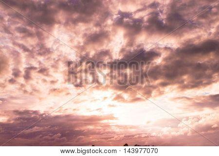 Bright Illumination Evening Cloudscape