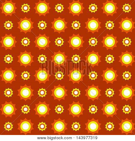 Dots seamless vintage pattern. Yellow orange white and black colors. Seamless texture vector illustration. Colorful background.
