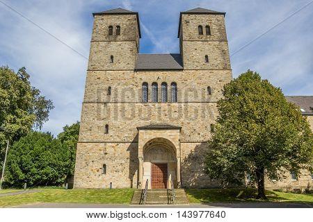 Entrance Of The Gerleve Abbey Near Coesfeld