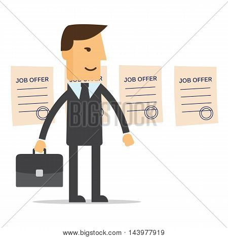 Manager job offers chooses vector eps 10