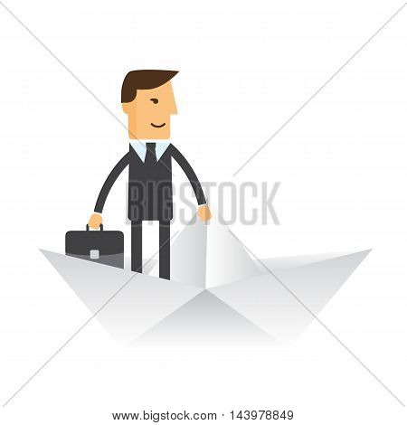 Business Solution. Business concept illustration eps 10 vector