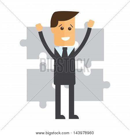 Cooperation. Business concept illustration vector eps 10