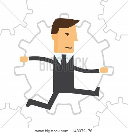 Business Engine. Business concept illustration eps 10
