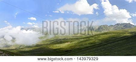 beautiful nature on plateau and traditional life on mountains in Turkey