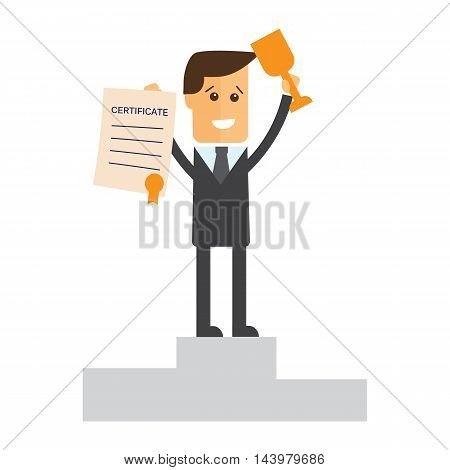 Successful manager or businessman vector eps 10