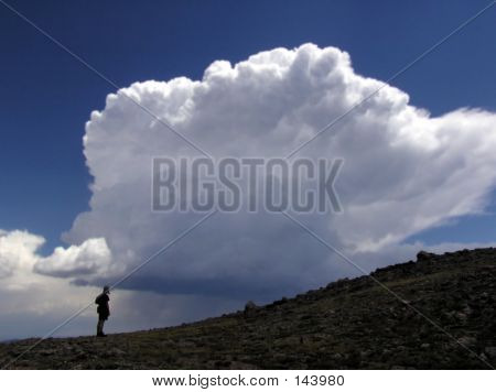 Hiker In Silhouette