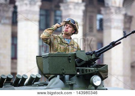 Military Parade In Kiev