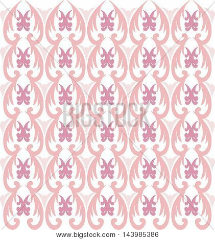 Background in the style of Baroque. A pink seamless vector