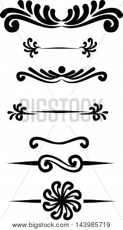 Collection of hand drawn vintage frame for text decoration in vector. The design of the banners