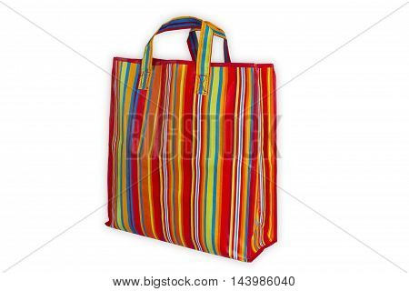 Colorful plastic bag isolated on white background