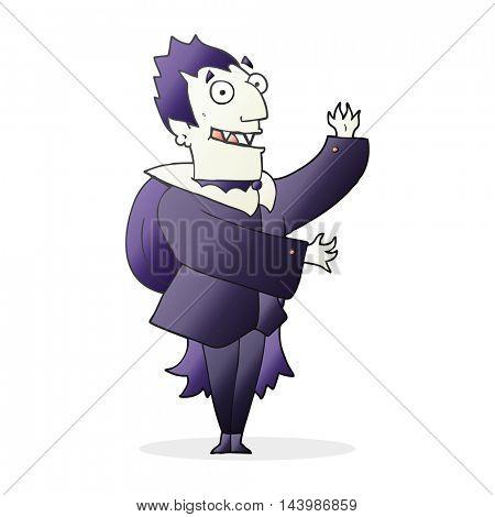 freehand drawn cartoon vampire