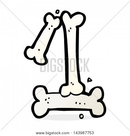 cartoon halloween bone number