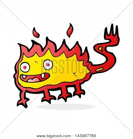 cartoon little fire demon