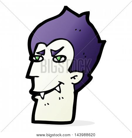 cartoon vampire face