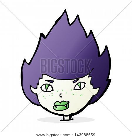 cartoon vampire head