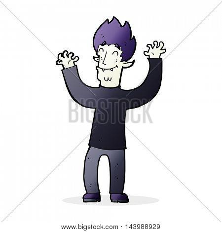 cartoon happy vampire man