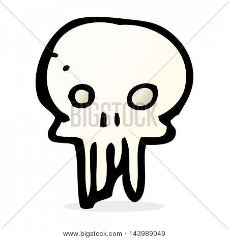 cartoon spooky skull symbol