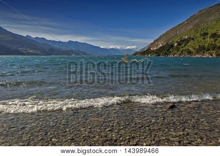 Lake Wanaka, Located In The Otago Region Of New Zealand