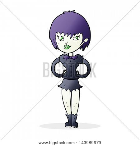 cartoon pretty vampire girl