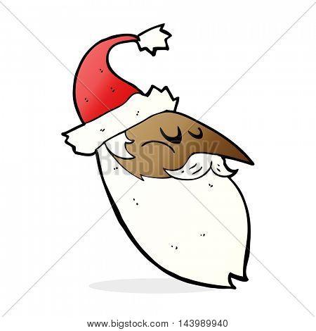 cartoon santa face