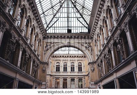 One of the finest buildings in the center of Odessa. Wonderful architecture masters.