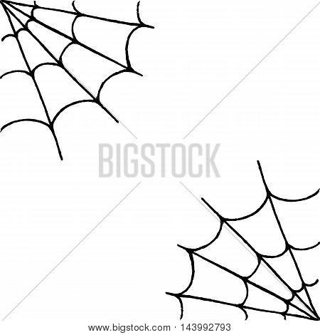 Monochrome black white web hand drawn doodle frame sketch vector
