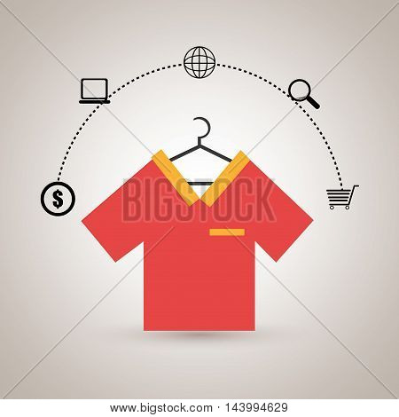 clothes wear buy online vector illustration eps 10