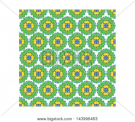seamless pattern of flowers water lily on white background